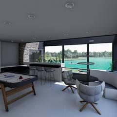 غرفة الميديا تنفيذ Luis Barberis Arquitectos,