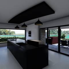 مطبخ ذو قطع مدمجة تنفيذ Luis Barberis Arquitectos