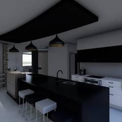 Casa FACT: Cocinas a medida  de estilo  por Luis Barberis Arquitectos,Minimalista