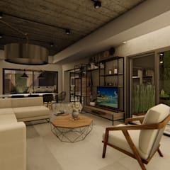 Casa GLVU: Livings de estilo  por Luis Barberis Arquitectos