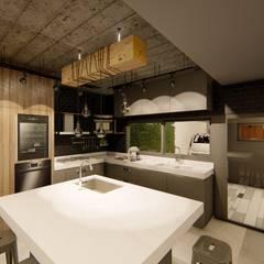 Casa GLVU: Cocinas de estilo  por Luis Barberis Arquitectos