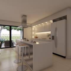 Casa MPSA: Cocinas de estilo  por Luis Barberis Arquitectos