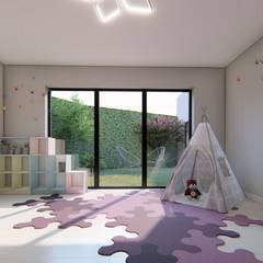 Casa MPSA: Dormitorios infantiles de estilo  por Luis Barberis Arquitectos
