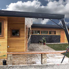Casa Palote, Limache: Terrazas  de estilo  por Intermedio Arquitectos