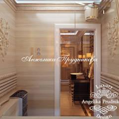 Дизайн-проект интерьера большой квартиры в ЖК Долина Сетунь: Ванные комнаты в . Автор – Дизайн-студия элитных интерьеров Анжелики Прудниковой