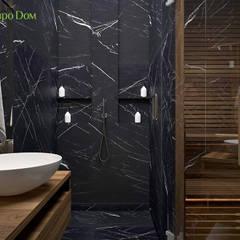 Дизайн двухкомнатной квартиры 93 кв. м в современном стиле: Ванные комнаты в . Автор – ЕвроДом