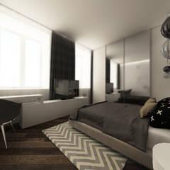 Спальня: Маленькие спальни в . Автор – Студия Aрхитектуры и Дизайна 'Aleksey Marinin'