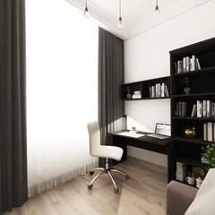 Квартира на Пролетарской: Рабочие кабинеты в . Автор – Студия Aрхитектуры и Дизайна 'Aleksey Marinin'