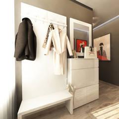 Квартира на Пролетарской: Коридор и прихожая в . Автор – Студия Aрхитектуры и Дизайна 'Aleksey Marinin'