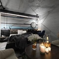 Kleine slaapkamer door Студия Aрхитектуры и Дизайна 'Aleksey Marinin'
