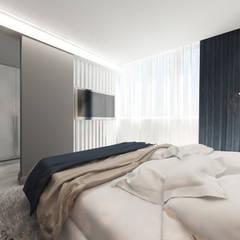 Kleines Schlafzimmer von Студия Aрхитектуры и Дизайна 'Aleksey Marinin'
