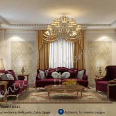 فيلا التجمع الاول:  غرفة المعيشة تنفيذ Authentic for interior designs