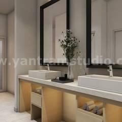 Stylist Modern Interior Bathroom ideas by Architectural Design Home Plans, USA:  Bathroom by Yantram Architectural Design Studio