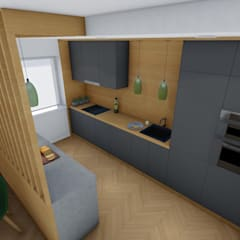 Wnętrza mieszkania pod Wrocławiem: styl , w kategorii Aneks kuchenny zaprojektowany przez 2arch architektura