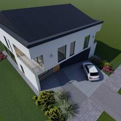 Dom jednorodzinny we Wrocławiu: styl , w kategorii Dom jednorodzinny zaprojektowany przez 2arch architektura,