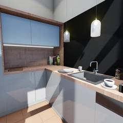 Mała kuchnia: styl , w kategorii Gastronomia zaprojektowany przez 2arch architektura