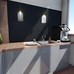 Mała kuchnia: styl , w kategorii Gastronomia zaprojektowany przez 2arch architektura,