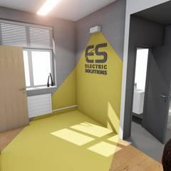 Proste wnętrza biura: styl , w kategorii Biurowce zaprojektowany przez 2arch architektura,