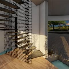 Casa GT: Escaleras de estilo  por Luis Barberis Arquitectos