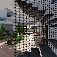 Casa GT de Luis Barberis Arquitectos Minimalista Hierro/Acero