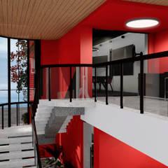 BLOQUE ROJO: Oficinas y Tiendas de estilo  por BICHO arquitectura