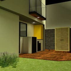 Сад камней в . Автор – Creer y Crear. Arquitectura/Diseño/Construcción