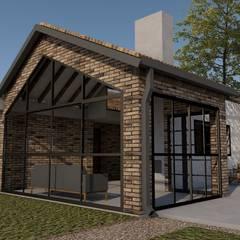 CASA TRES AGUAS: Casas de estilo  por BICHO arquitectura, Rústico Ladrillos
