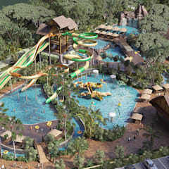 Adventure Island @ Amverton Cove:  Pool by SZEN Architects Sdn Bhd