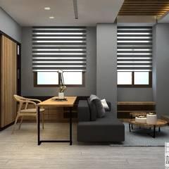 Kleine slaapkamer door 明景空間設計工作室