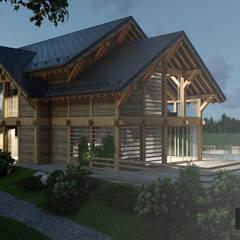 Casas unifamilares de estilo  de Pracownia Projektowa '+ARCHITEKTURA' mgr inż. arch. Maciej Kubicki