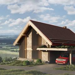 منزل عائلي صغير تنفيذ Pracownia Projektowa '+ARCHITEKTURA' mgr inż. arch. Maciej Kubicki