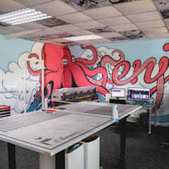 Our Studio:  Media room by The Binary Box