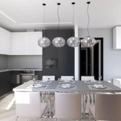 Квартира 76,8 кв. м в Москве: Кухни в . Автор – Андреевы.РФ