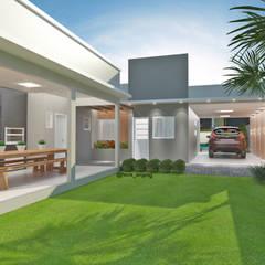 Residencia MCMV - 2 etapas: Casas pequenas  por HECK Arquitetura e Engenharia
