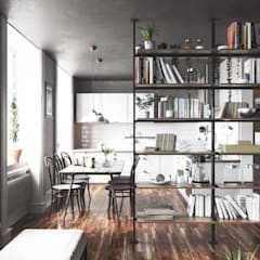 Livings de estilo  por Damiano Latini srl, Industrial Aluminio/Cinc
