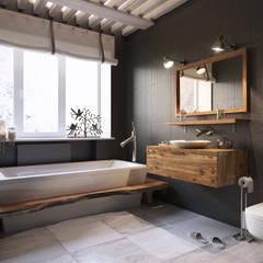 Ванная комната: Ванные комнаты в . Автор – Irina Yakushina