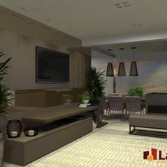 اتاق نشیمن by LAM Arquitetura   Interiores