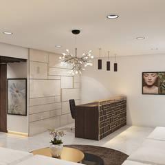 Spa design in contemporary style :  Corridor & hallway by Rhythm  And Emphasis Design Studio ,Modern