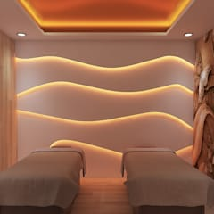 Spa design in contemporary style :  Spa by Rhythm  And Emphasis Design Studio