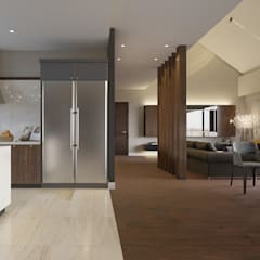 Интерьер частного дома на Грибоедова *Композиция Уюта*: Кухонные блоки в . Автор – Дизайн - Центр,