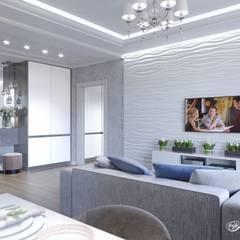 Дизайн двухкомнатной квартиры (ЖК Европейский): Гостиная в . Автор – Дизайн-студия 'Абрис'
