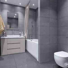 Дизайн двухкомнатной квартиры (ЖК Европейский): Ванные комнаты в . Автор – Дизайн-студия 'Абрис'