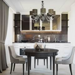 """Интерьер квартиры в ЖК """"Вертикаль"""" *Богатство времени*: Кухонные блоки в . Автор – Дизайн - Центр,"""