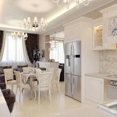 Дизайн интерьера дома в КП Екатериновка: Столовые комнаты в . Автор – Дизайн-студия 'Абрис'