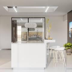 Интерьер загородного дома в с. Кижеватово *Дух Калифорнии*: Кухонные блоки в . Автор – Дизайн - Центр,