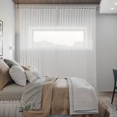 Интерьер загородного дома в с. Кижеватово *Дух Калифорнии*: Спальни в . Автор – Дизайн - Центр
