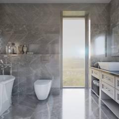 Интерьер частного дома на Станиславского *Лучшие Годы*: Ванные комнаты в . Автор – Дизайн - Центр