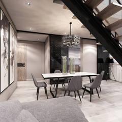 Квартира в м.Авдотьино: Столовые комнаты в . Автор – Студия Aрхитектуры и Дизайна 'Aleksey Marinin',