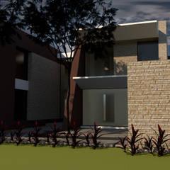 Casa M-3: Casas unifamiliares de estilo  por diseño con estilo ... sas