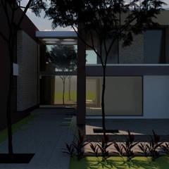 Casa M-3: Casas unifamiliares de estilo  por diseño con estilo ... sas,